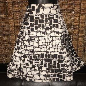 Black and White Abstract Skirt